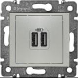 VAL Двойно USB зарядно алуминий