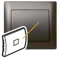 Тъмен бронз лицева плочка ключ, бутон с индикатор