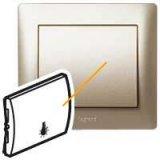 Титан лицева плочка със символ лампа