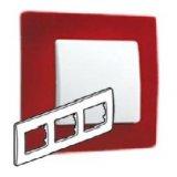 Niloe Лицева рамка тройна червена