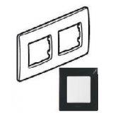 Niloe Лицева рамка Черна двойна
