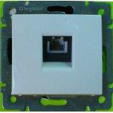 Телефонна розетка RJ 11 - 1 изход Valena – бяло
