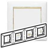 Четворна рамка Valena – жълт опал / бяло