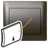 Тъмен бронз лицева плочка със символ лампа